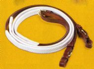 Pessoa leather and rubber reins
